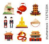 traditional chinese cultural... | Shutterstock .eps vector #713752204