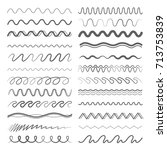 zigzag or wavy lines in... | Shutterstock .eps vector #713753839