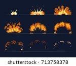 key frames of bomb explosion....