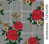 floral seamless pattern with... | Shutterstock .eps vector #713761456
