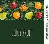 juicy fruit vector illustration.... | Shutterstock .eps vector #713764783