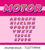 raster speed racing sport... | Shutterstock . vector #713774944