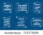 typographic quote template.... | Shutterstock . vector #713775094