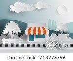 minimart modern supermarket... | Shutterstock .eps vector #713778796