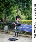 edinburgh scotland   july 28  a ... | Shutterstock . vector #713780740