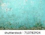 obsolete wall texture | Shutterstock . vector #713782924