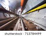subway tunnel    Shutterstock . vector #713784499