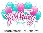 vector illustration.happy... | Shutterstock .eps vector #713785294