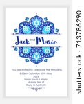 arabic vector banner  wedding... | Shutterstock .eps vector #713786290
