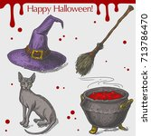 vector linear illustration of... | Shutterstock .eps vector #713786470