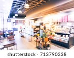 blurred abstract coffee shop or ... | Shutterstock . vector #713790238