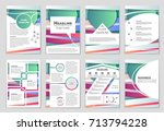 abstract vector layout... | Shutterstock .eps vector #713794228