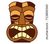 vector cartoon tiki idol... | Shutterstock .eps vector #713800360