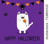 happy halloween. spooky... | Shutterstock .eps vector #713801410