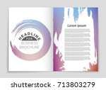 abstract vector layout... | Shutterstock .eps vector #713803279