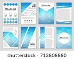 abstract vector layout... | Shutterstock .eps vector #713808880