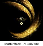 vector abstract shiny color... | Shutterstock .eps vector #713809480