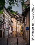Small photo of charming streets of alsace town