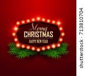 christmas background. retro... | Shutterstock .eps vector #713810704