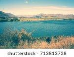 lake wanaka landscape  new... | Shutterstock . vector #713813728