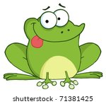 Happy Frog Cartoon Character