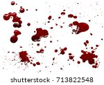 blood isolated on white... | Shutterstock .eps vector #713822548