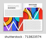 abstract vector layout... | Shutterstock .eps vector #713823574
