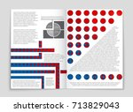 abstract vector layout... | Shutterstock .eps vector #713829043