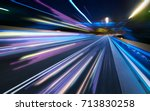 moving forward motion blur... | Shutterstock . vector #713830258