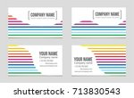 abstract vector layout... | Shutterstock .eps vector #713830543