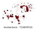 blood isolated on white... | Shutterstock .eps vector #713839510