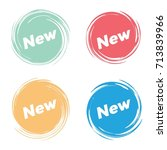 set of twirl circle tag design  ... | Shutterstock .eps vector #713839966