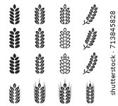 vector of wheat icons set | Shutterstock .eps vector #713845828