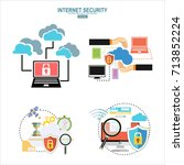 internet security and data... | Shutterstock .eps vector #713852224