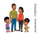 african american family | Shutterstock .eps vector #713855614