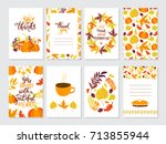 vector thanksgiving day... | Shutterstock .eps vector #713855944