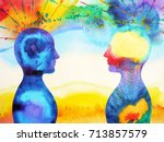 mastermind  chakra power ... | Shutterstock . vector #713857579