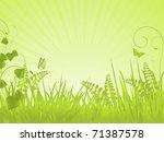 spring landscape with grasses ... | Shutterstock . vector #71387578