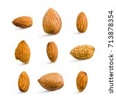 almond isolated. seamless... | Shutterstock . vector #713878354