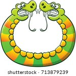 Double Headed Snake With Sharp...