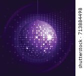 disco ball for fun party....   Shutterstock .eps vector #713884498