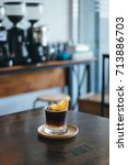 iced espresso on the table.   Shutterstock . vector #713886703