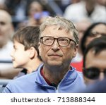 Small photo of New York, NY USA - September 8, 2017: Bill Gates attends day 12 of US Open Championships at Billie Jean King National Tennis Center