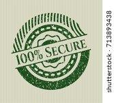 green 100  secure distress... | Shutterstock .eps vector #713893438