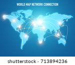 world connection concept....   Shutterstock . vector #713894236
