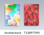 abstract covers design set.... | Shutterstock .eps vector #713897590