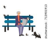 colorful illustration set of... | Shutterstock .eps vector #713901913