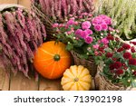 Autumnal Decoration With...