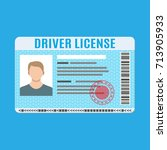 car driver license... | Shutterstock .eps vector #713905933