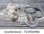 criminal idea. illegal drugs... | Shutterstock . vector #713906980